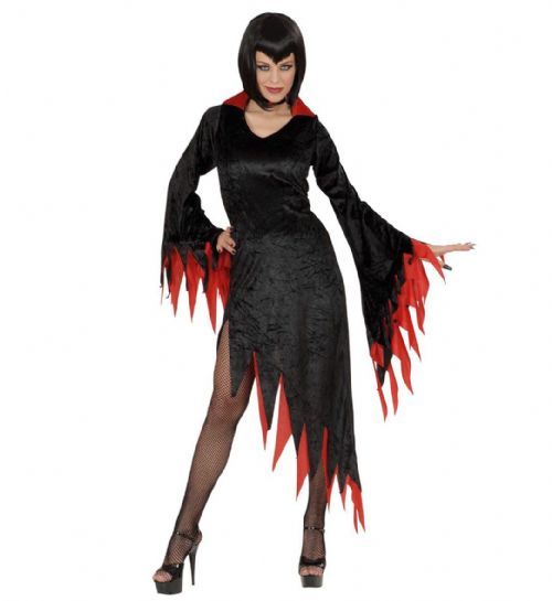 Ladies Dark Mistress - Red/Purple Costume Halloween Fancy Dress